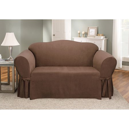 Sure Fit Soft Suede Loveseat Cover ()