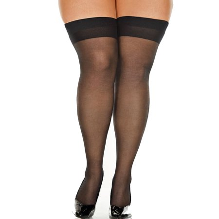 Lacy Line Plus Size Sheer Thigh High