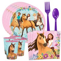 Spirit Birthday Party Supplies - Spirit Riding Free Tableware Kit with Favor Cup (Serves 8)