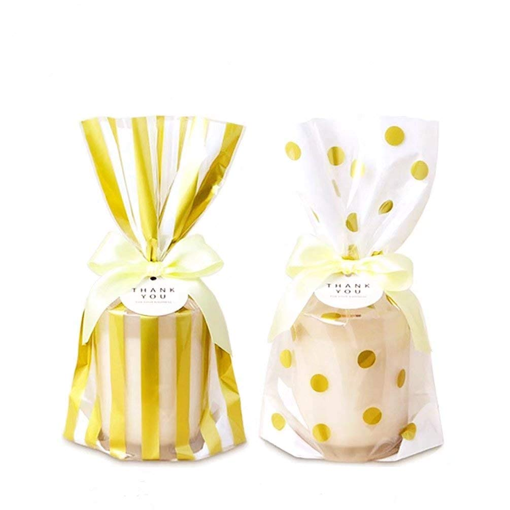 Stripe or Dot Cello party gift cake bags 5 10,15,