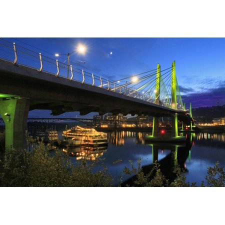 USA, Oregon, Portland. Tilikum Bridge Crossing and The Portland Spirit boat on Willamette River. Print Wall Art By Jaynes Gallery](Spirit Halloween Portland)