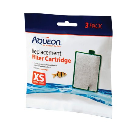 Aqueon Filter Cartridge, X-Small, 3-Pack