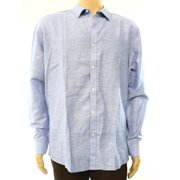 INC NEW Solid Light Blue Mens Size XL Long Sleeve Mason Button Down Shirt