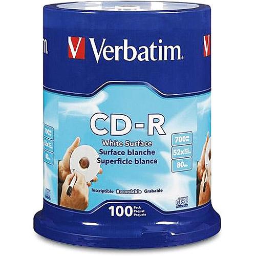 Verbatim 700MB 52X CD-R 100 Packs Cake Box Disc
