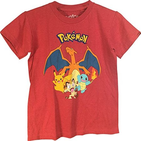 Pokemon Characters Pikachu Boy's T-Shirt XL 18/20