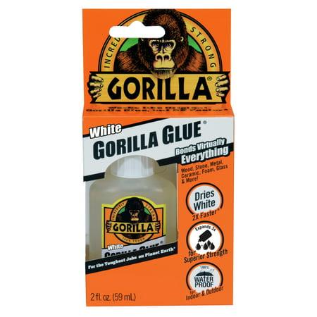 Gorilla White Gorilla Glue, 2 oz., White (Liquid Nails Or Gorilla Glue For Wood)