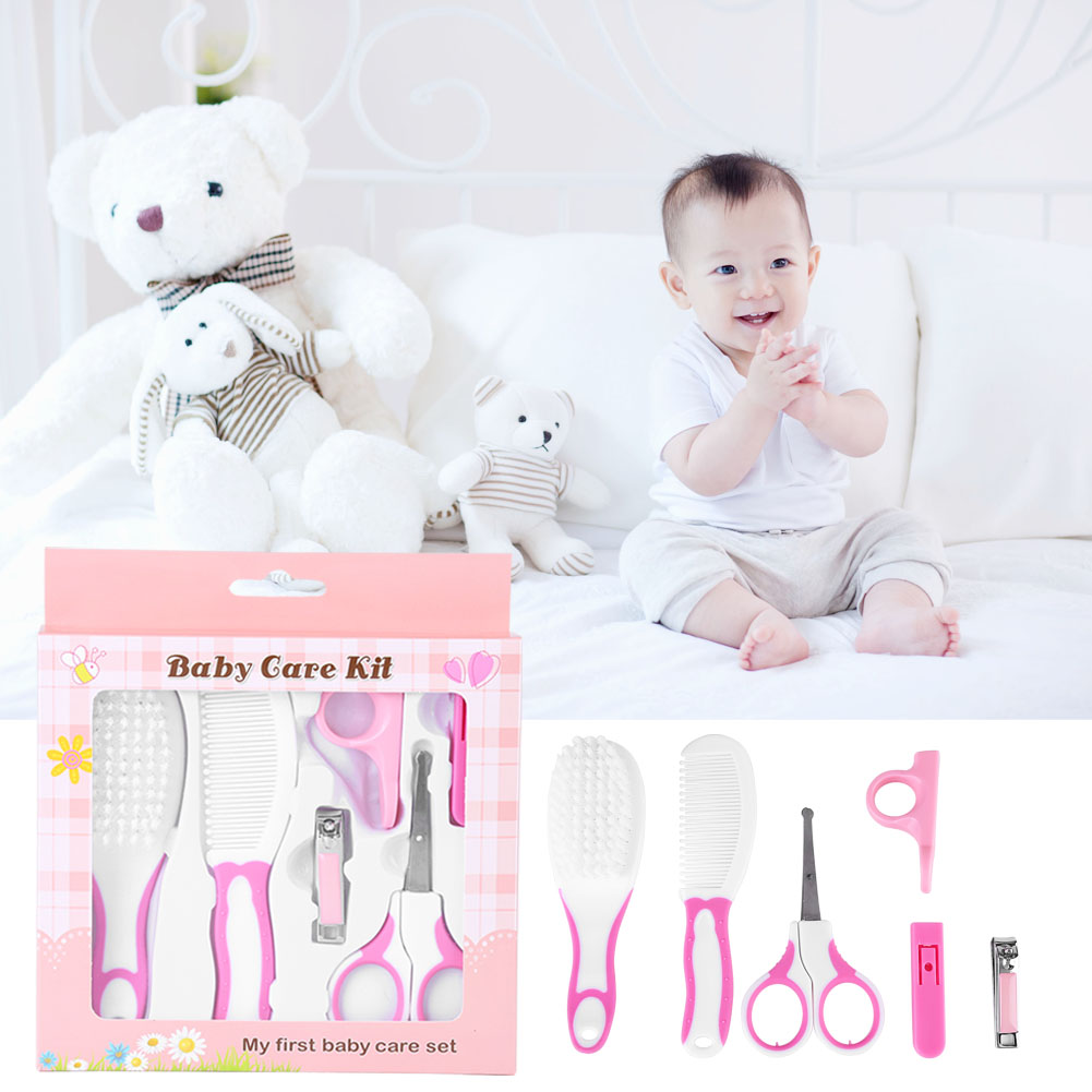 Zerone 6pcs Daily Infant Kids Care Kit Baby Grooming Health Hair Care Products Kits Newborn Gift Box Nail Clipper Set Brush Scissors Comb etc, Baby Nail Scissors, Nail Clipper