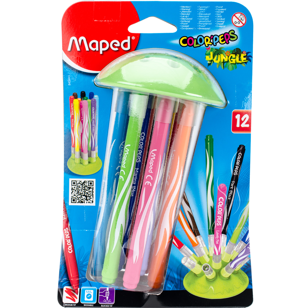 Color'Peps Jungle Innovation Stand With 12 Markers-Assorted