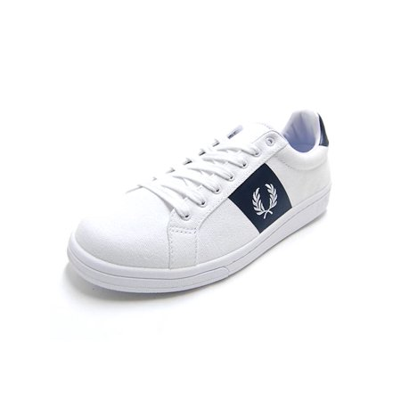 Fred Perry Mens B3112 Canvas Low Top Lace Up Fashion Sneakers (Fred Perry Canvas)