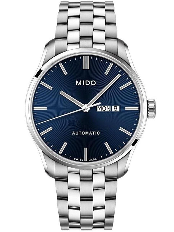 Men's Belluna II 42.5mm Steel Bracelet & Case Automatic Blue Dial Analog Watch M0246301104100