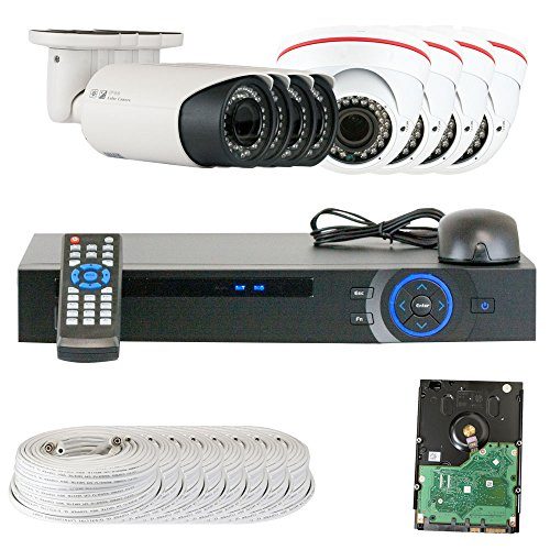 Best Sale High End Professional 8 Channel HD-CVI DVR Security Camera System with 8 x1/2.9 HDCVI Color IR CCTV Security C