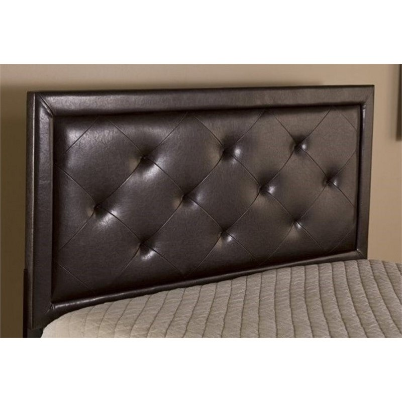 Atlin Designs Tufted Queen Panel Headboard with Rails in Brown