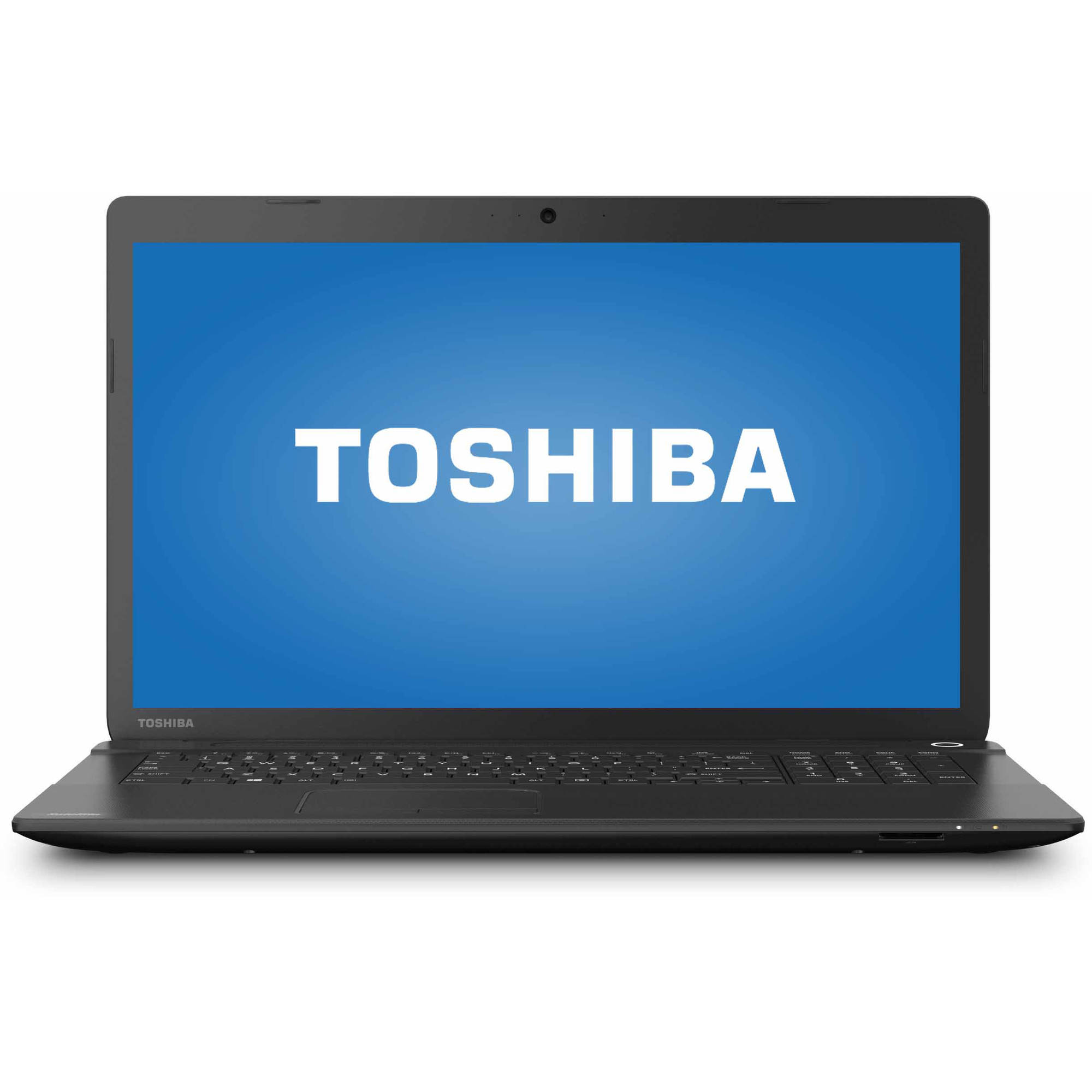 "Toshiba Jet Black 17.3"" Satellite C75D-B7320 Laptop PC with AMD A8-6410 Quad-Core Processor, 6GB Memory, 750GB Hard Drive and Windows 10 Home"