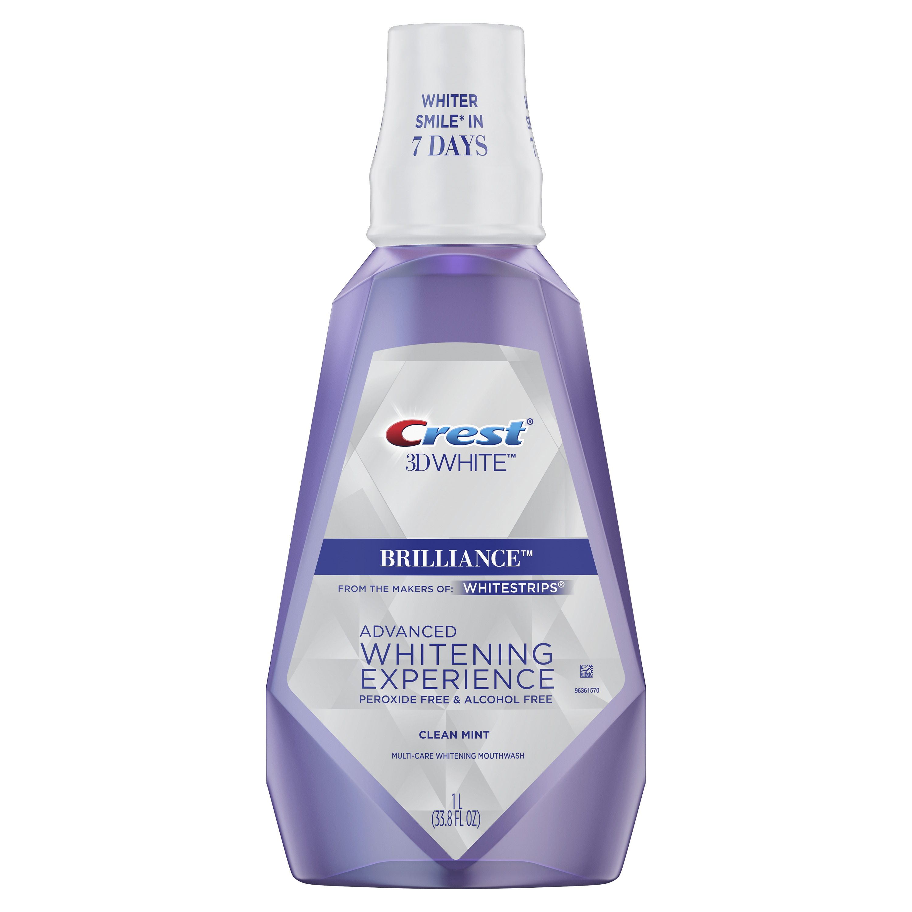 Crest 3D White Brilliance Mouthwash, Alcohol Free, Mint