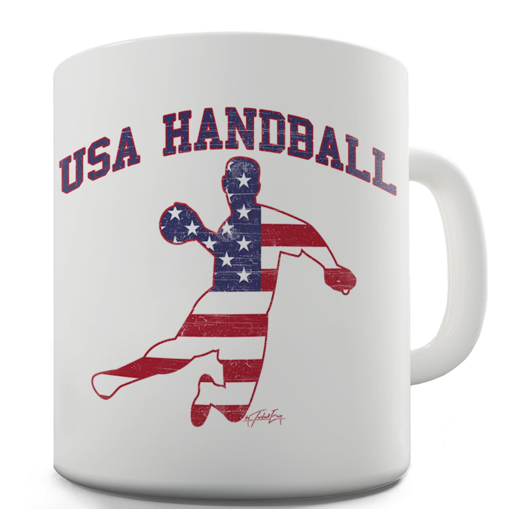 USA Handball Ceramic Novelty Gift Mug by Ink Rocks