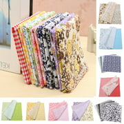 """7Pcs Cotton Fabrics 10"""" Squares Assorted Pattern Floral Cotton Fabric Cloth For DIY Crafts Sewing by the Yard (Size: 25 cm)"""