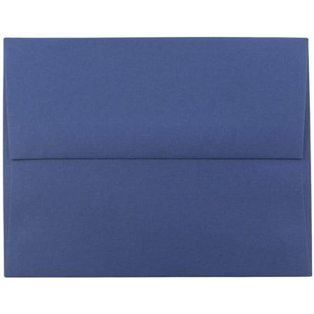 JAM Paper A9 Invitation Envelopes, 5 3/4 x 8 3/4, Presidential Blue, 250/pack