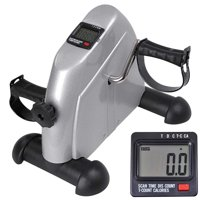 Product Image Portable Mini Cycle Exercise Bike Pedal Exerciser Bicycle Machine Adjustable Resistance Arm Leg LCD Monitor Displays