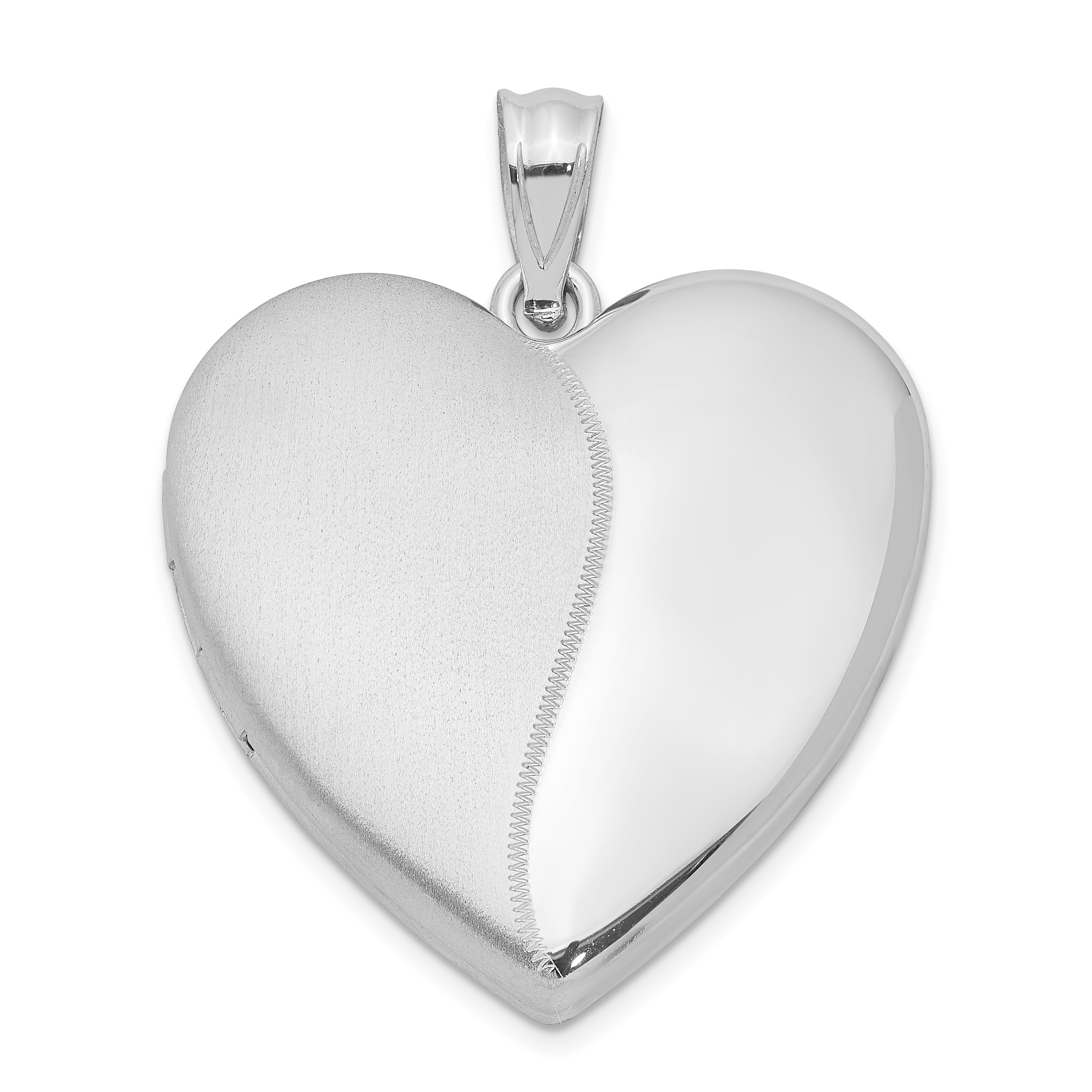 925 Sterling Silver 24mm Heart Photo Pendant Charm Locket Chain Necklace That Holds Pictures Fine Jewelry Gifts For Women For Her - image 3 of 3