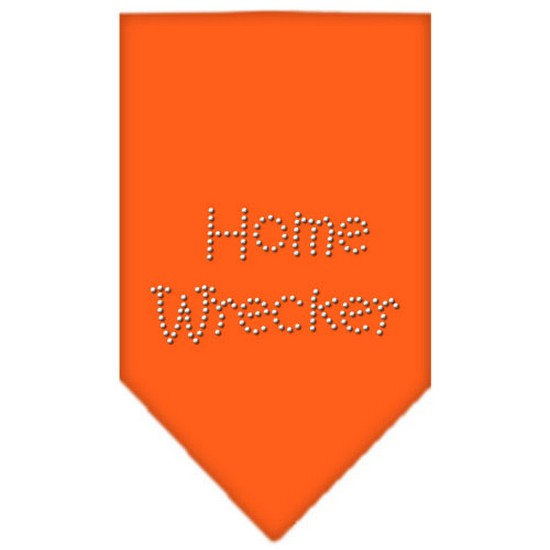 Home Wrecker Rhinestone Bandana Orange Small