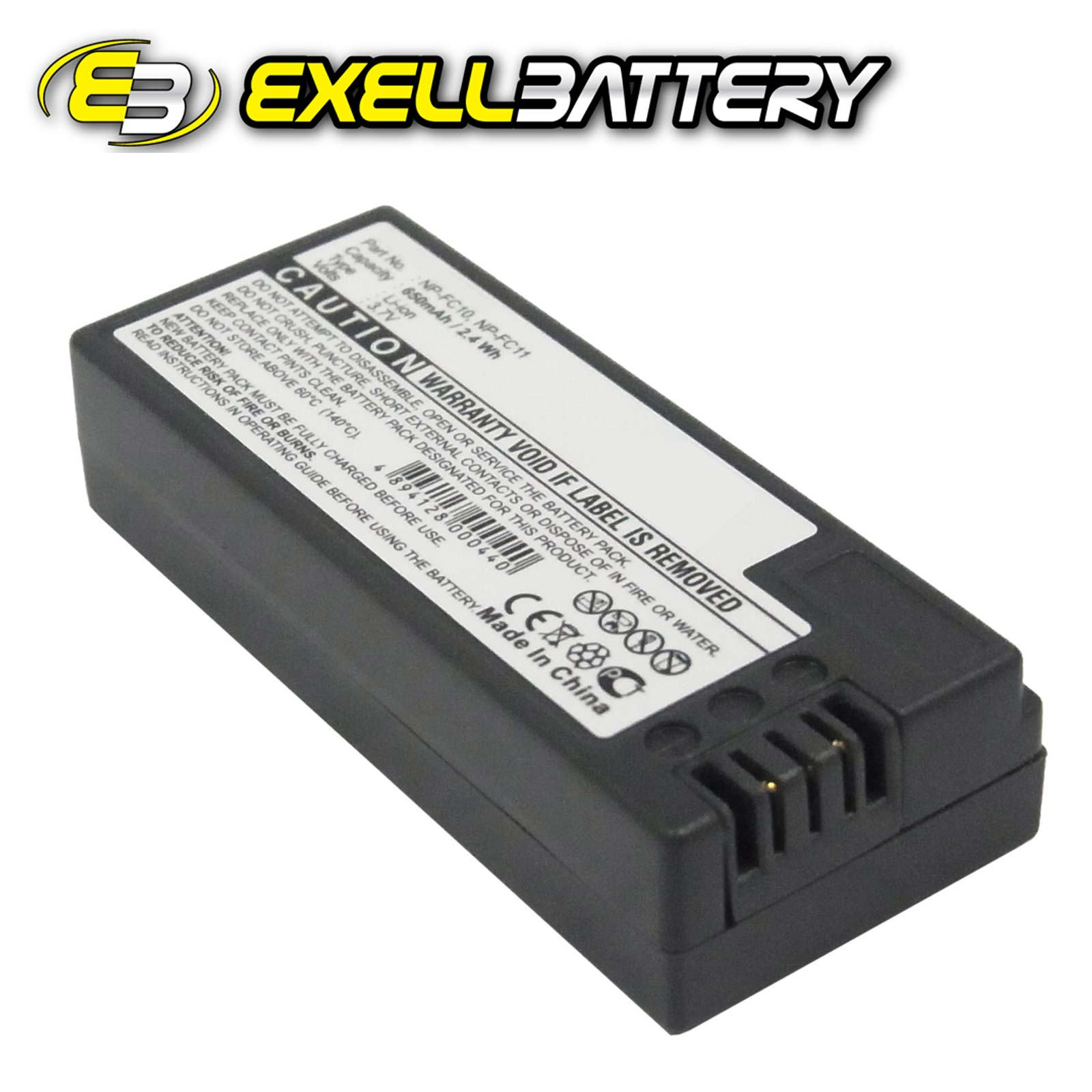 3.7V 650mAh Li-Ion Digital Camera Battery Fits Sony Cyber-shot DSC-P12 DSC-V1