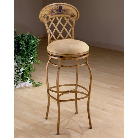 Hillsdale Rooster Swivel Counter Stool 41344 Walmart Com