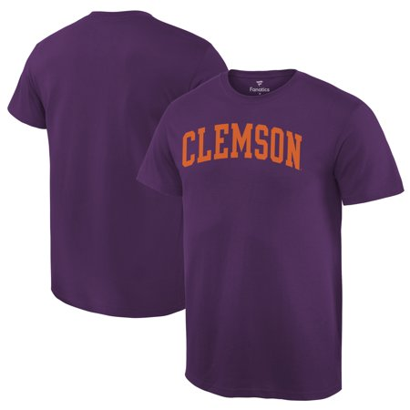 Clemson Tigers Fanatics Branded Basic Arch T-Shirt - Purple Clemson Tigers Purple Tiger