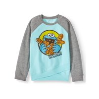 Sesame Street Cookie Monster Colorblock Fleece Sweatshirt (Little Girls & Big Girls)