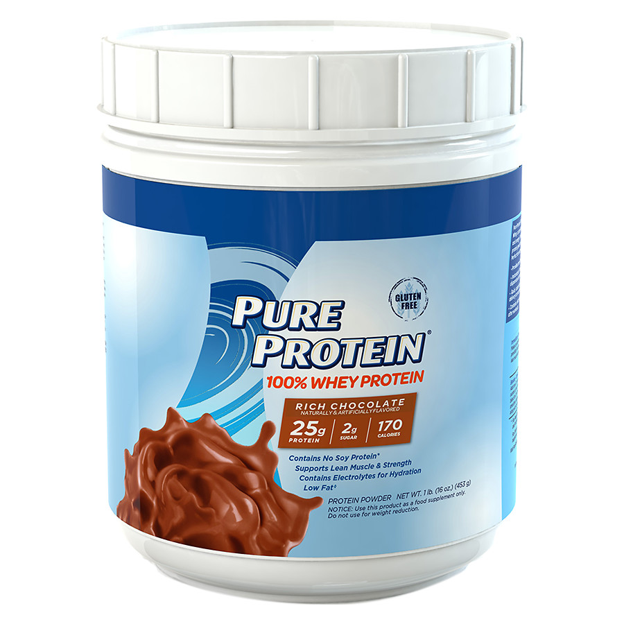 Pure Protein 100% Whey Protein Shake Powder Rich Chocolate16.0 oz.(pack of 1)