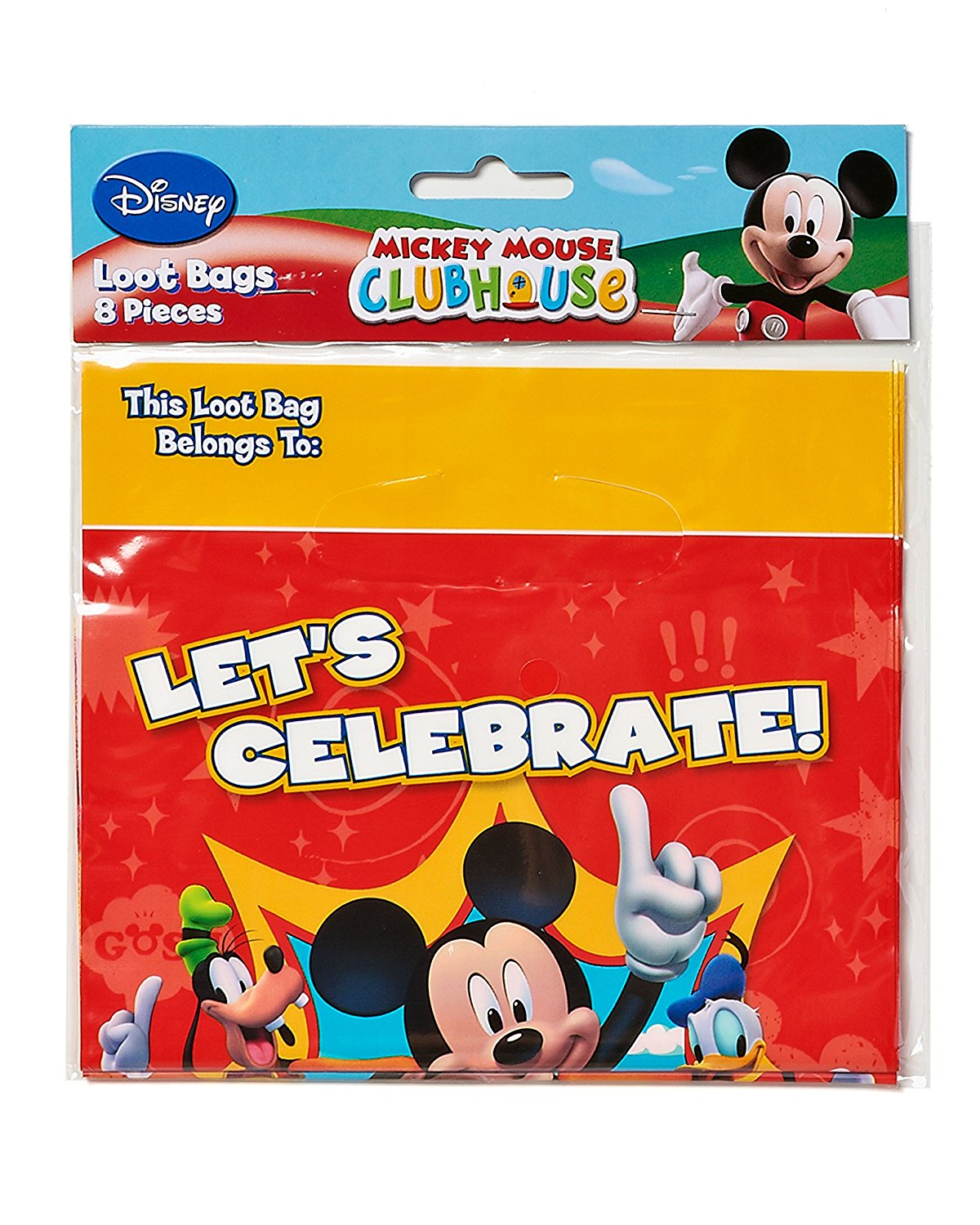 Mickey Mouse Clubhouse Party Favor Treat Bags 8ct
