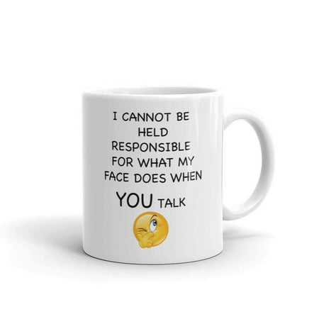 I Can't Be Held Responsible Funny Sarcastic Novelty Humor 11oz White Ceramic Glass Coffee Tea Mug Cup - Novelty Glasses