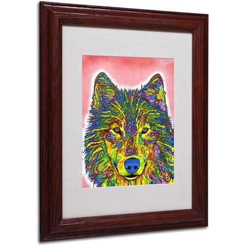 "Trademark Fine Art ""Wolf"" Canvas Art by Dean Russo, Wood Frame"
