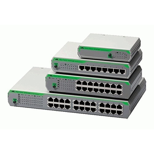Allied Telesis Ethernet Switch - 8 x Fast Ethernet Network - Twisted Pair - 2 Layer Supported - Rack-mountable, Desktop