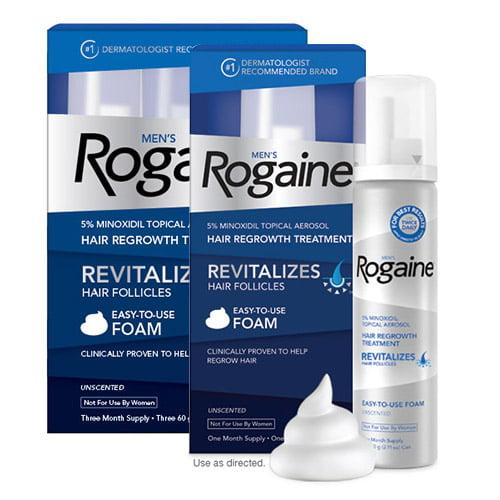 Rogaine Mens Hair Regrowth Treatment Foam Four Month Supply Mens Hair Regrowth Treatment Foam