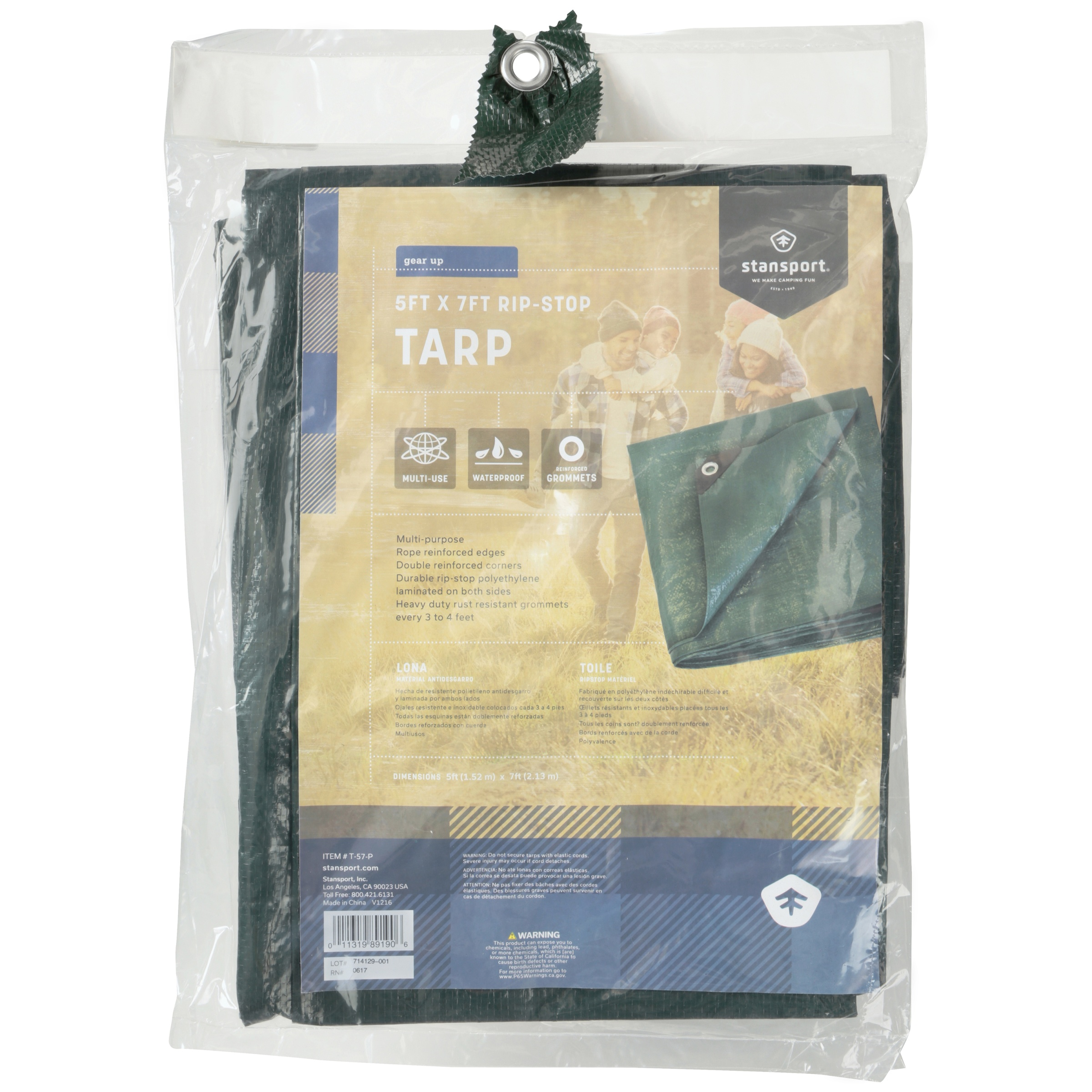 stansporta gear up 5 ft x 7 ft rip stop tarp walmart com
