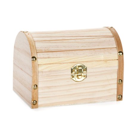 Darice Wood Chest Hinged With Clasp  6 1 X 4 1 X 4 3 Inch