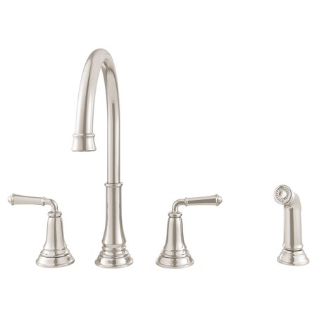 American Standard Delancey Widespread 2-Handle Kitchen Faucet in Polished  Nickel