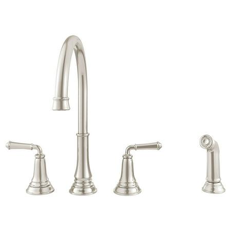 Nickel Polished Filler - American Standard Delancey Widespread 2-Handle Kitchen Faucet in Polished Nickel