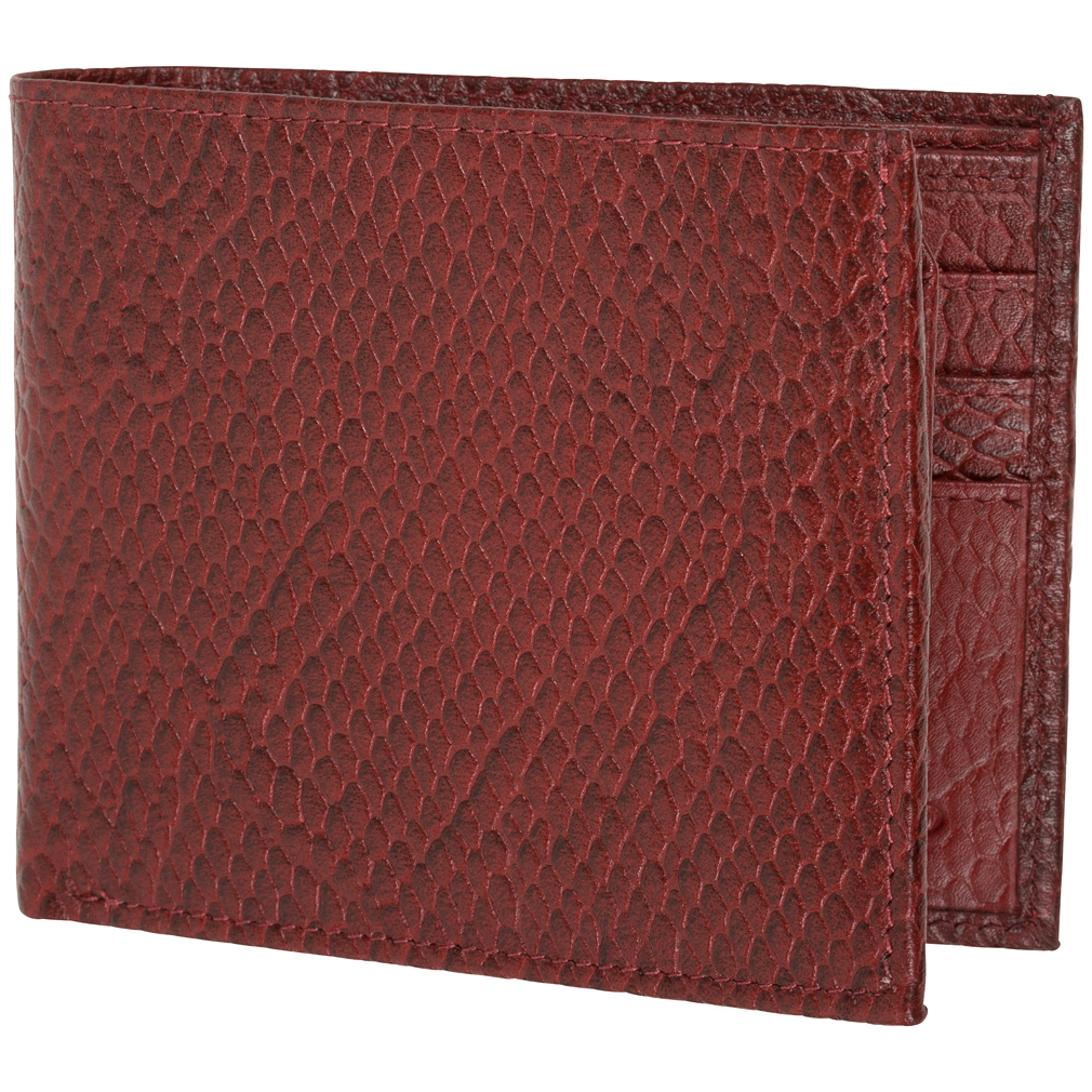 Genuine Leather Wallet Mens Bifold 6 Card Slot RFID Blocking By Access Denied