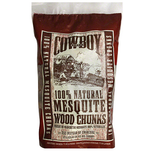 Cowboy Brand 100% Natural Mesquite Wood Chips, 7.35 L, (Pack of 6)