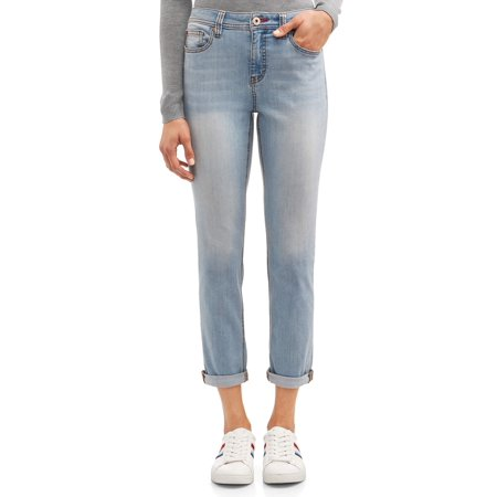 Vintage Wash Denim - EV1 from Ellen DeGeneres Alex Relaxed Vintage Fit Jean Women's (Light Wash)