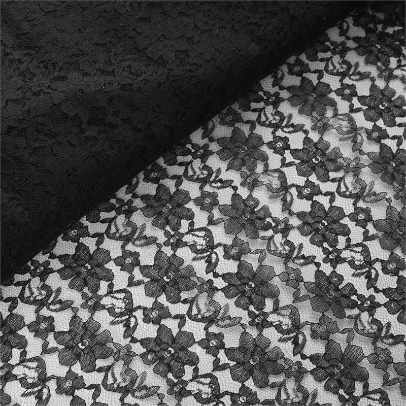 54 inch x 15 yards Lace Fabric Bolt - Black