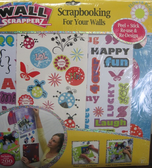 FLOWER POWER WALL SCRAPPERZ Girl Room Decor Photo Album