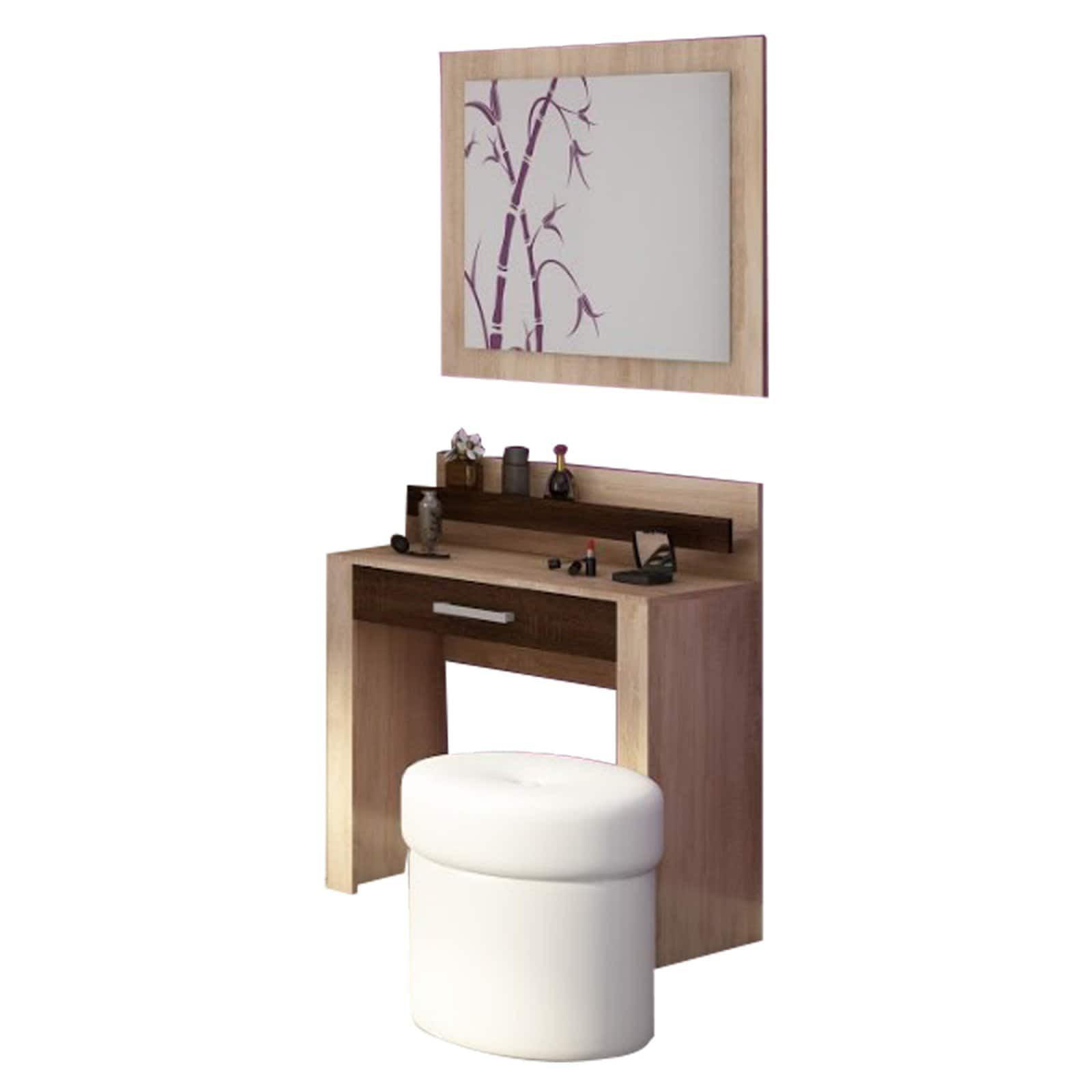 Furniture Agency Viki Makeup Vanity With Mirror Set Walmart Com Walmart Com
