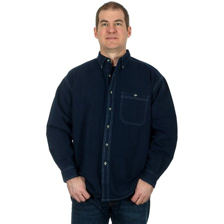 Blue Pointe Men's Denim Long Sleeve Button Down (Denim Long Sleeve Button)