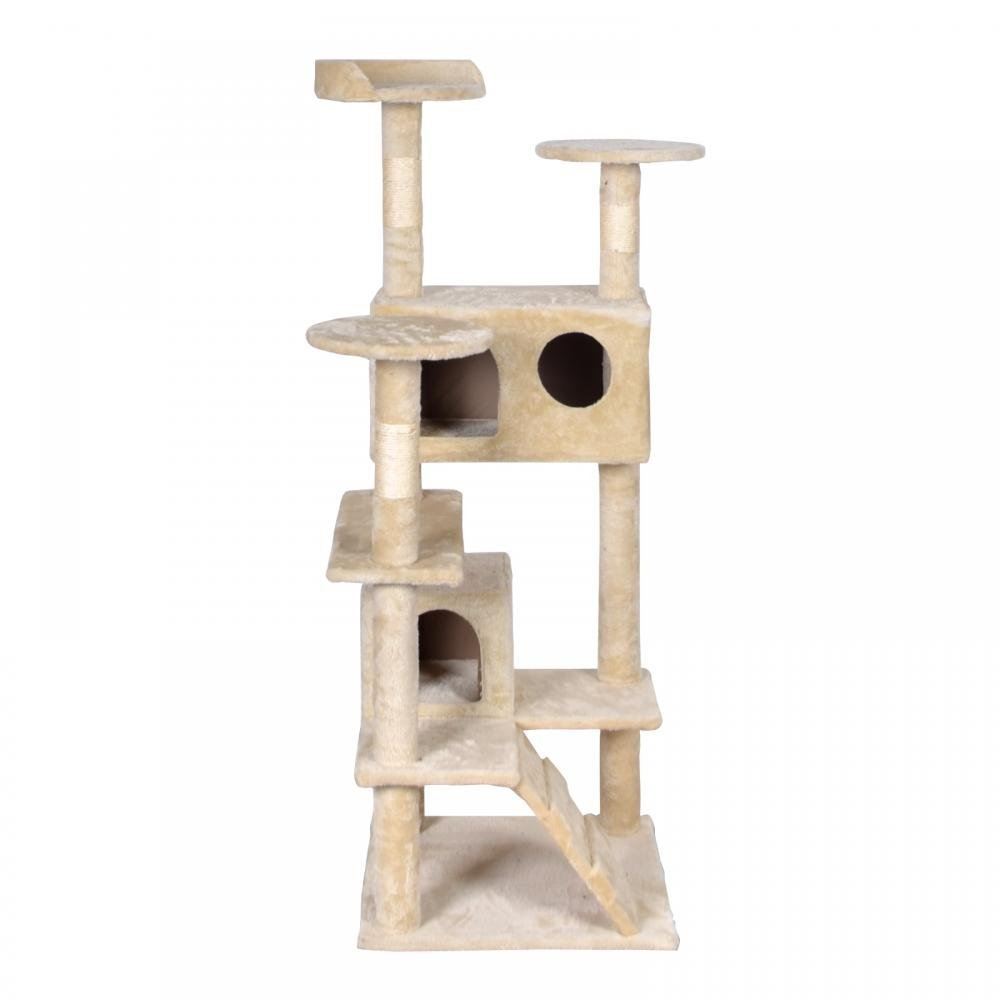 BestPet Beige Cat Tree Tower Condo Furniture Scratch Post Kitty Pet House by