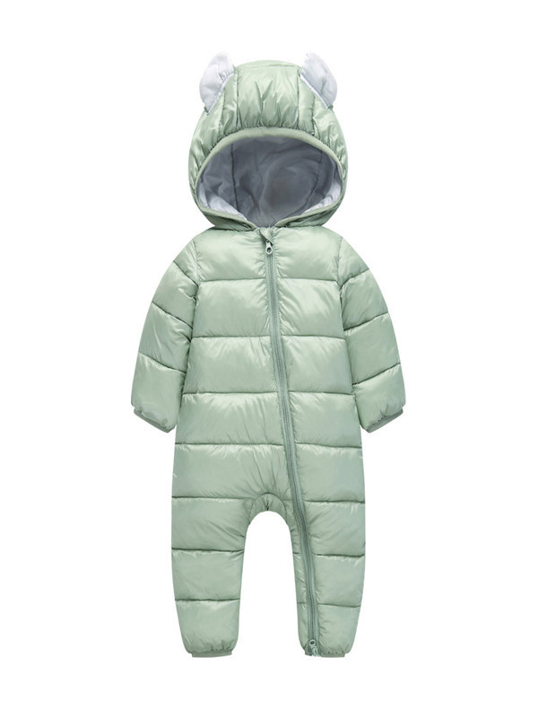 Kids Toddler Baby Boys Girls Rompers Winter Thick Cotton Warm Clothes Jumpsuit