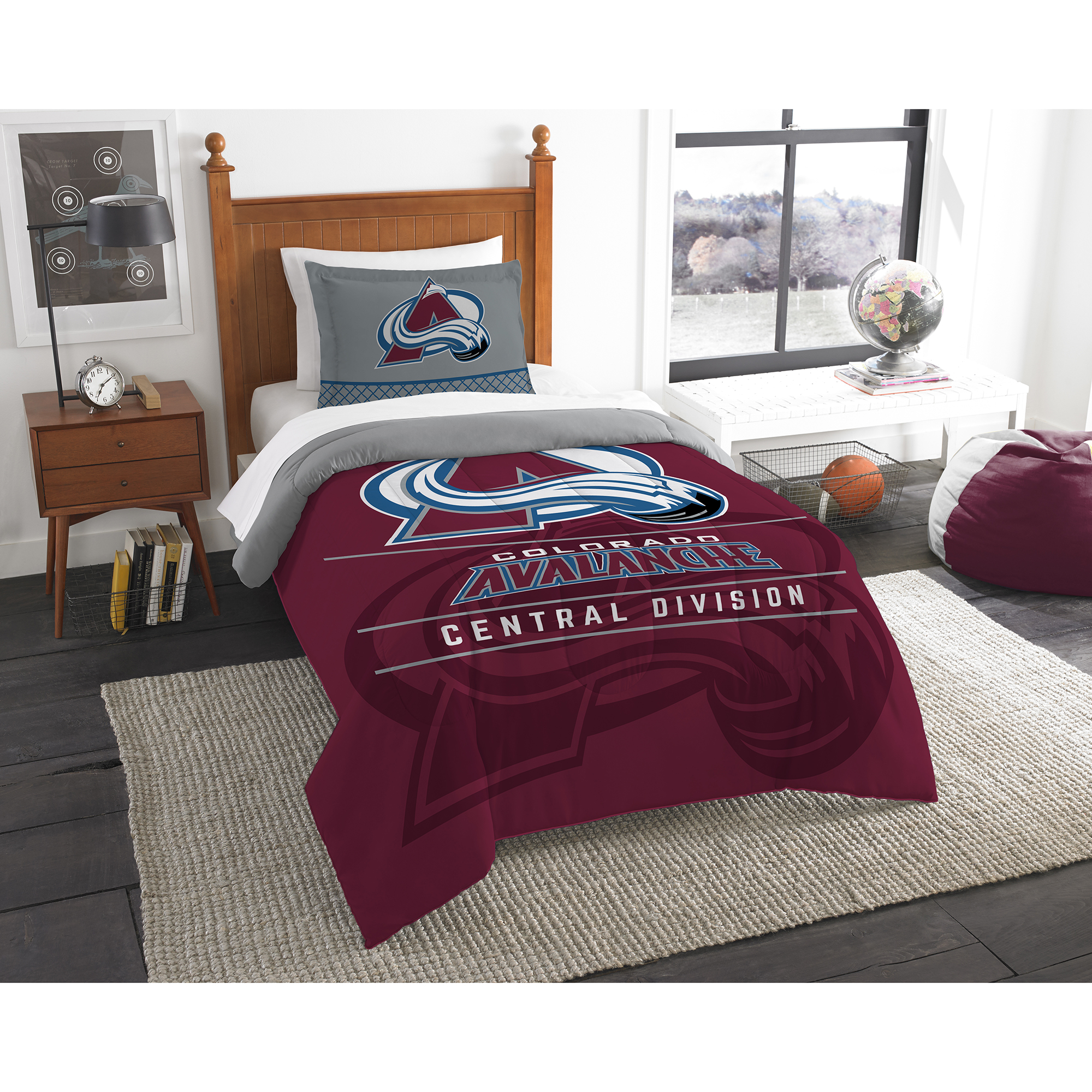 Colorado Avalanche The Northwest Company NHL Draft Twin Comforter Set