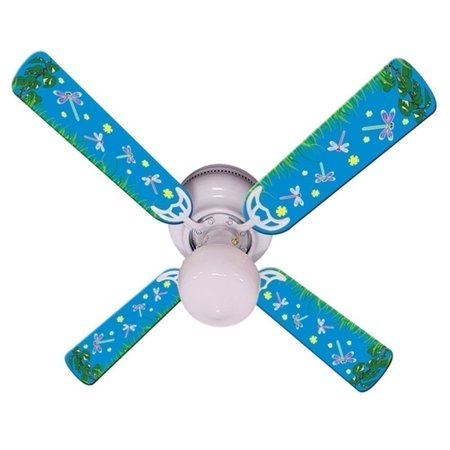 Blue Fireflies Print Blades 42in Ceiling Fan Light Kit](Fireflies Boutique)
