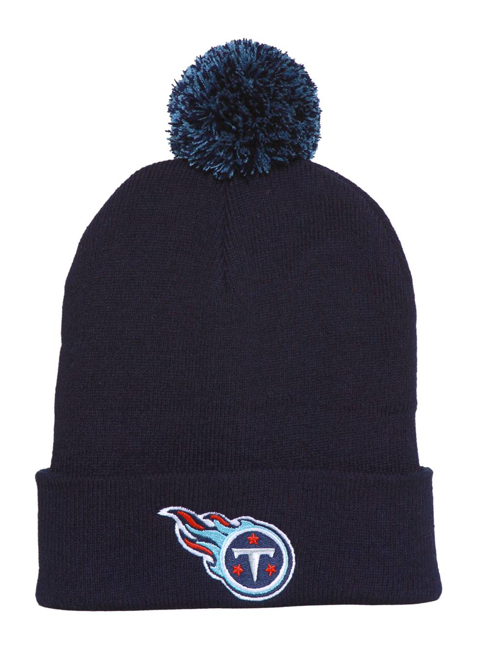 Tennessee Titans Beanie with Pom Navy by Team NFL